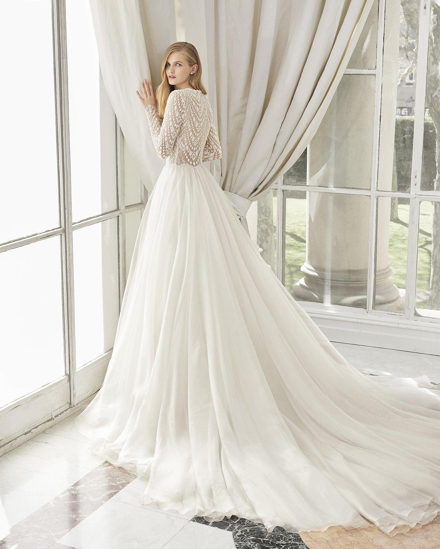 Manchester A Line Wedding Dress By Rosa Clara Weddingwire Com In 2020 Ball Gowns Wedding Wedding Dress Long Sleeve Wedding Dress Couture