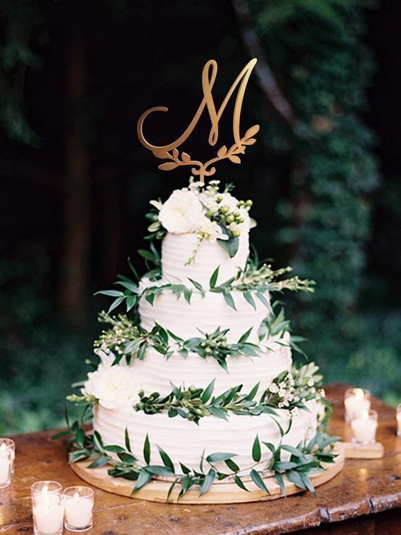 Cake topper M Wood Monogram Wedding Cake Topper M Personalized Cake Topper Initial Cake Topper letter M Cake Topper Silver Rustic wedding