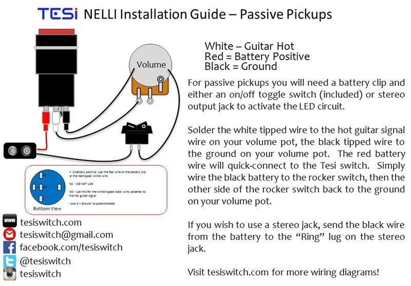 Wiring Diagrams | Tesi Guitar Kill Switch, Parts and