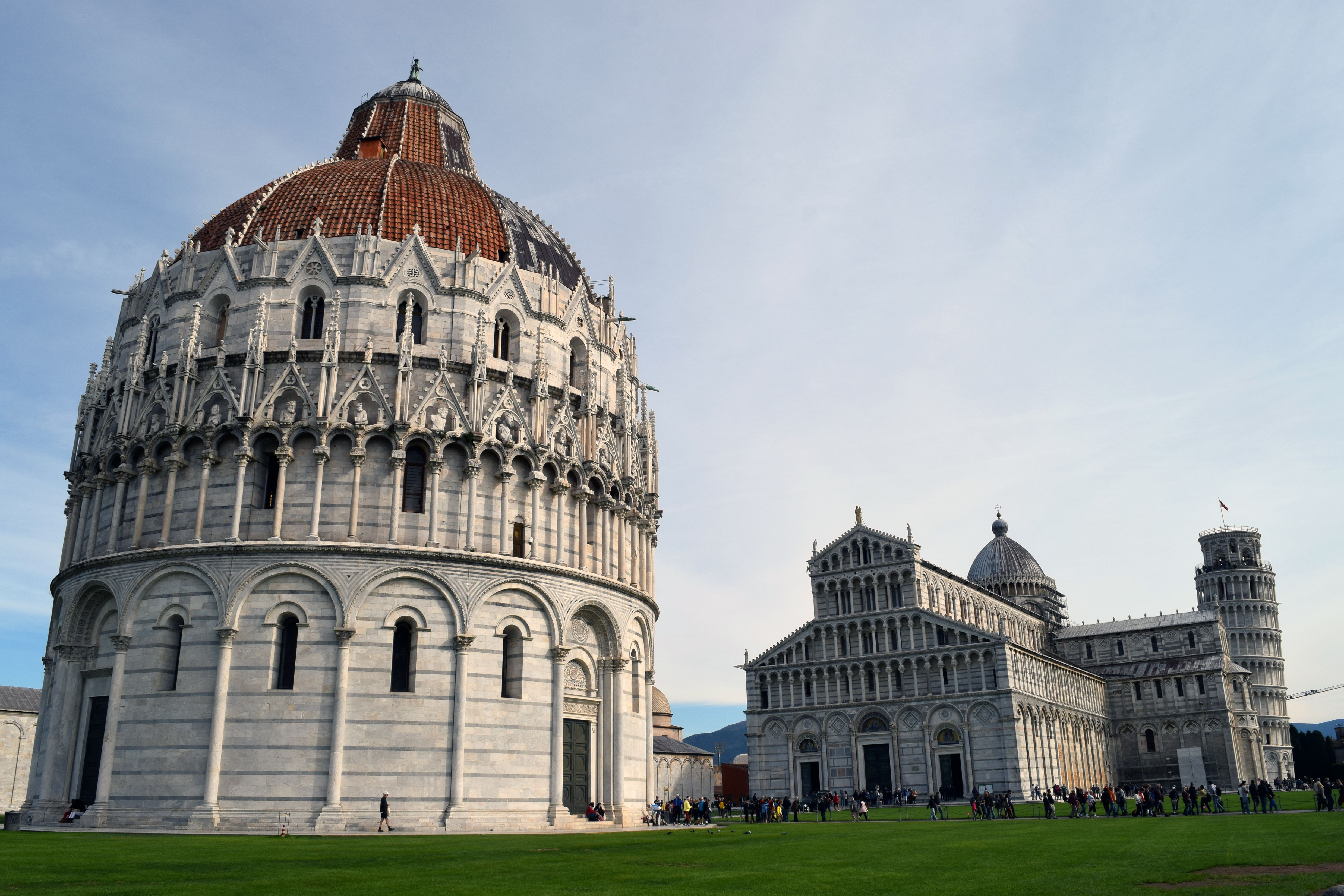 Piazza dei Miracoli, the location of the famous Leaning Tower of Pisa. We weren't allowed inside the Duomo because there was a funeral service being held at the time. Still gorgeous, though! A larg...