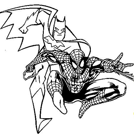 Coloriage batman a imprimer gratuit dracaufeu batman spiderman spiderman et batman - Coloriage spiderman imprimer ...