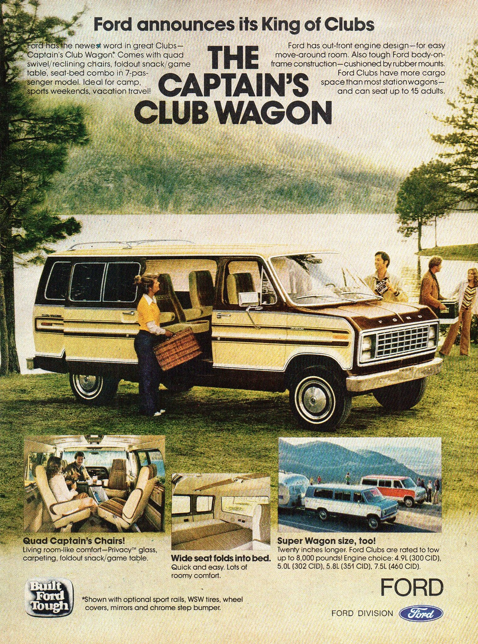 1979 Ford Captain S Club Wagon Usa Original Magazine Advertisement Wagon Classic Chevy Trucks Vintage Trucks