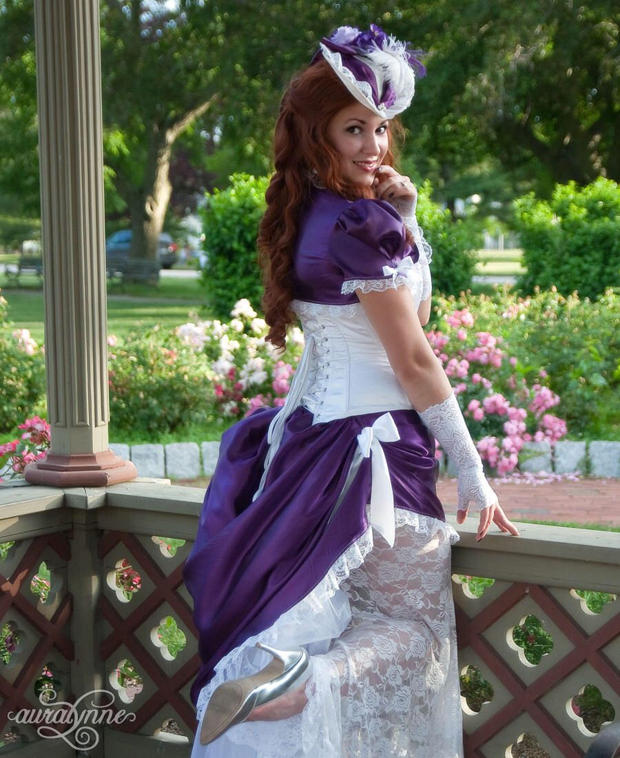 Steampunk wedding dresses  Purple Victorian Wedding Dress  Vintage Diva  Steampunk Gown
