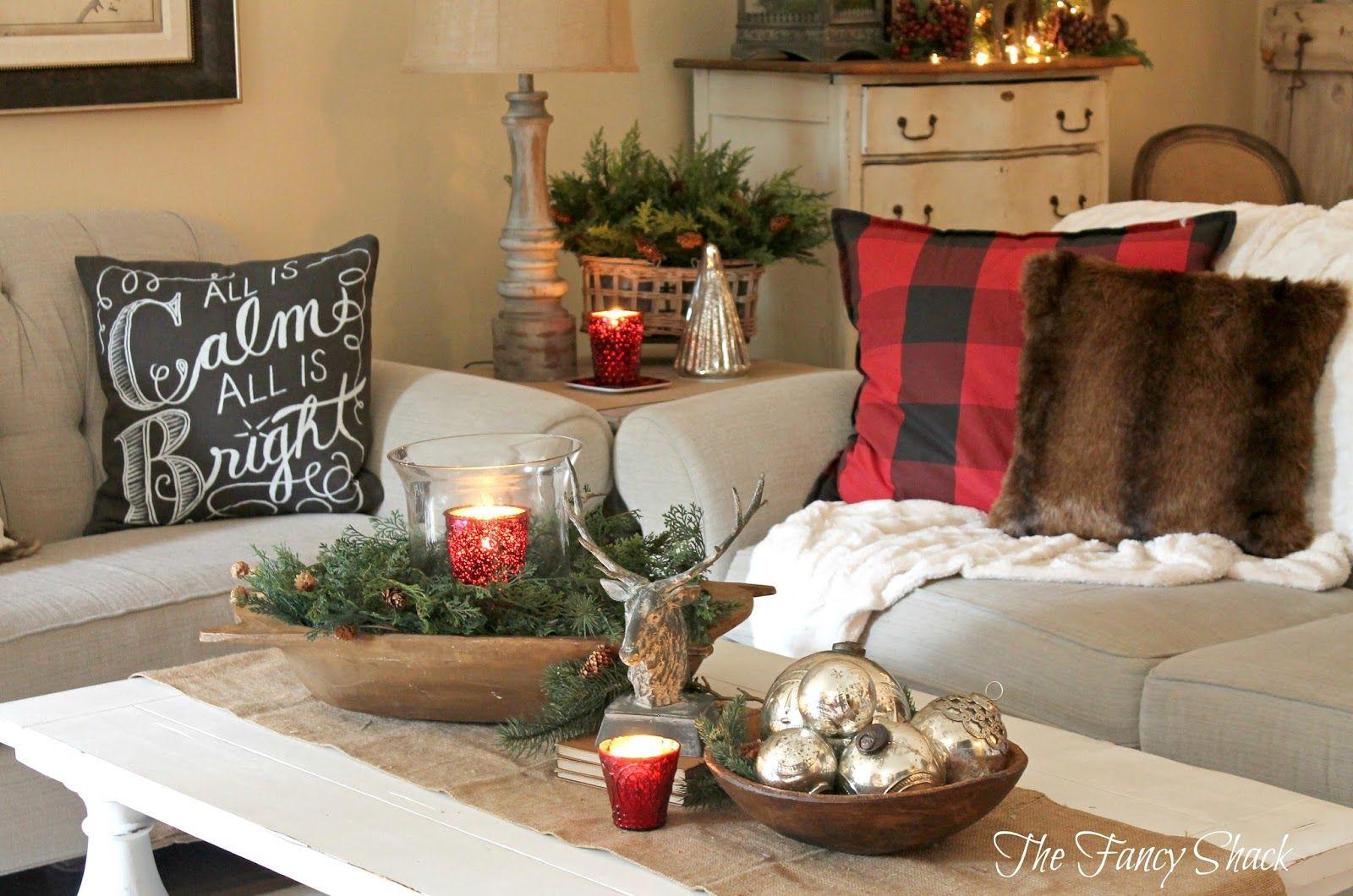 Christmas Home Tour 2015 | Christmas coffee table decor ...