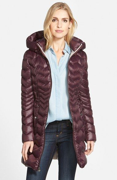 Women's Laundry by Shelli Segal Packable Hooded Down Coat | Shelli ...