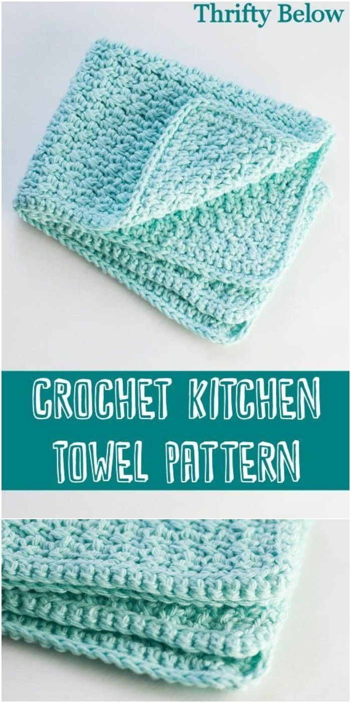 Crochet Dish Towel Patterns – Spice Up Your Home #dishtowels
