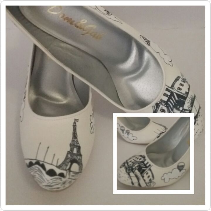 Handpainted wedding shoes for our bride. Available sizes : 4-10  Heel sizes : wedge flats - 5inches  Lead time : 6-8weeks  For inquiries call / viber : 09327167888 WE SHIP NATIONWIDE.  Display Areas : SM Megamall / SM North Edsa  #domngabshoes #weddingoptions #heels #weddingshoes #wedding #shoes #weddingday #customizedshoes #weddingph #weddingphotos #bride #handpaintedshoes by domngabshoes