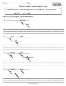 Diagram to sentences prepositions 1 homeschool pinterest diagram to sentences prepositions 1 ccuart Choice Image