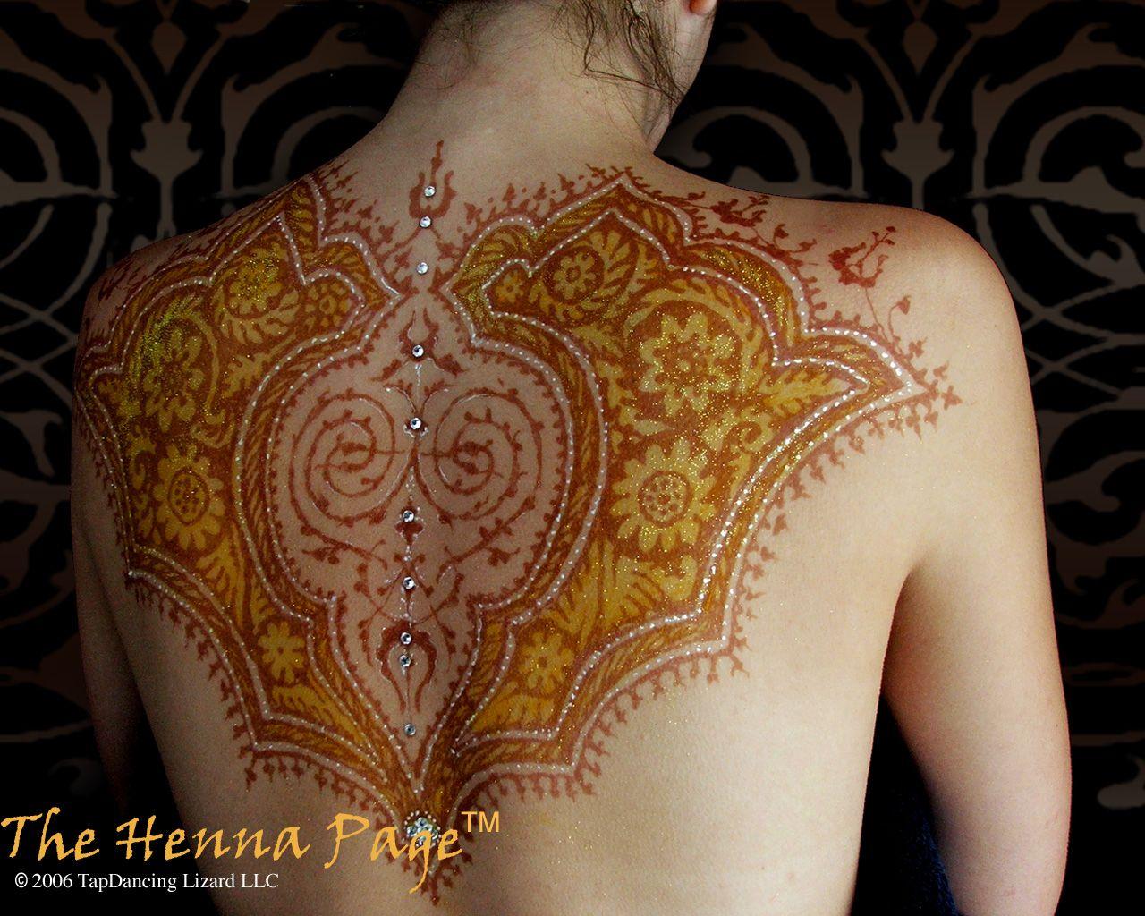 Mehndi Designs On Hips : Image detail for full body back glitter mehndi design fashion