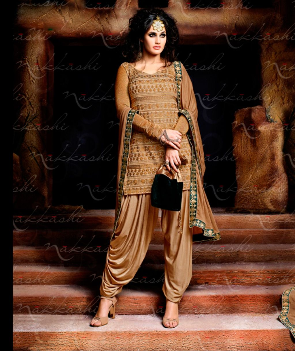 Beige Lycra Punjabi Suit 57979