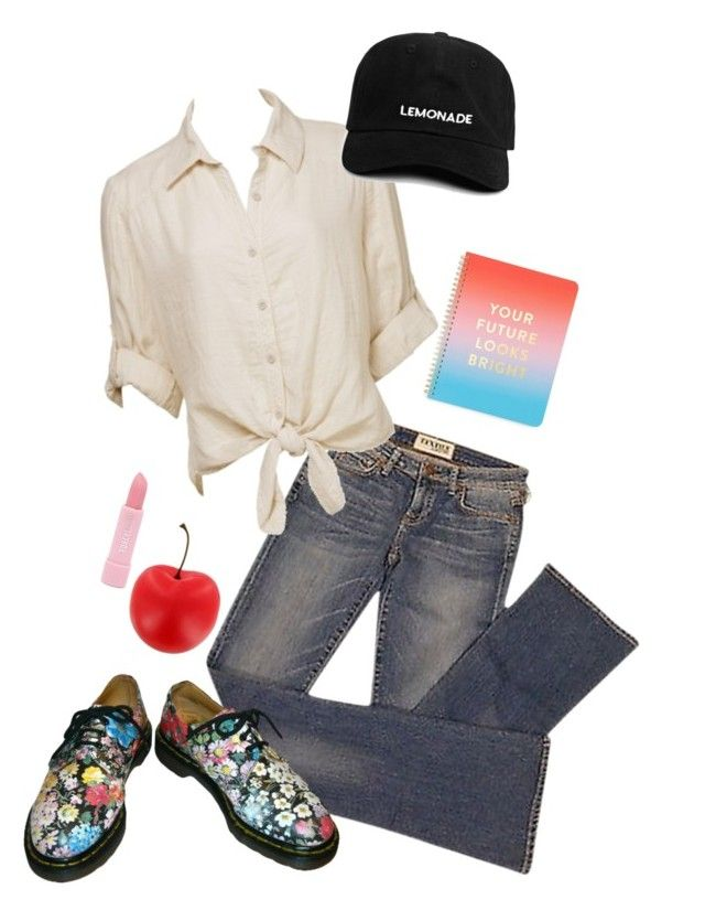 """""""Kill them with kindness"""" by rainbowbritez ❤ liked on Polyvore featuring Elizabeth and James, Charlotte Russe, ban.do and Forever 21"""