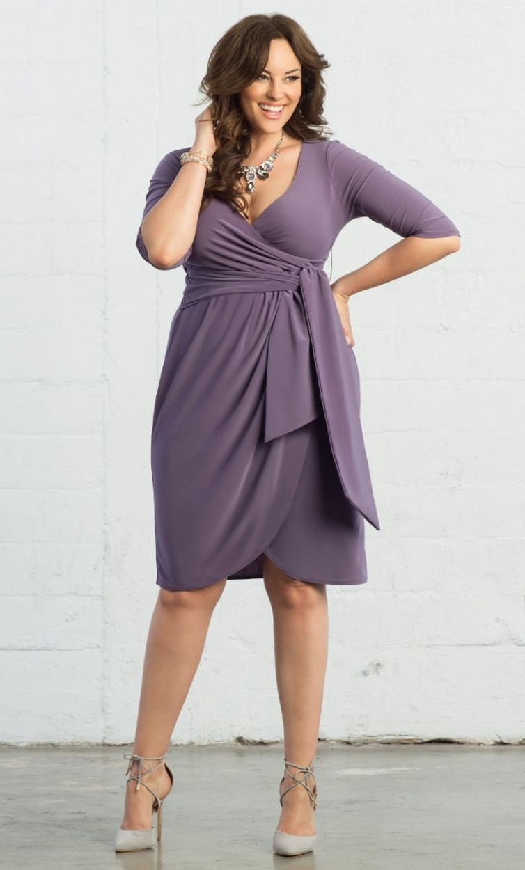 Harlow Faux Wrap Dress | Pinterest | Vestiditos, Gordita y Moda elegante