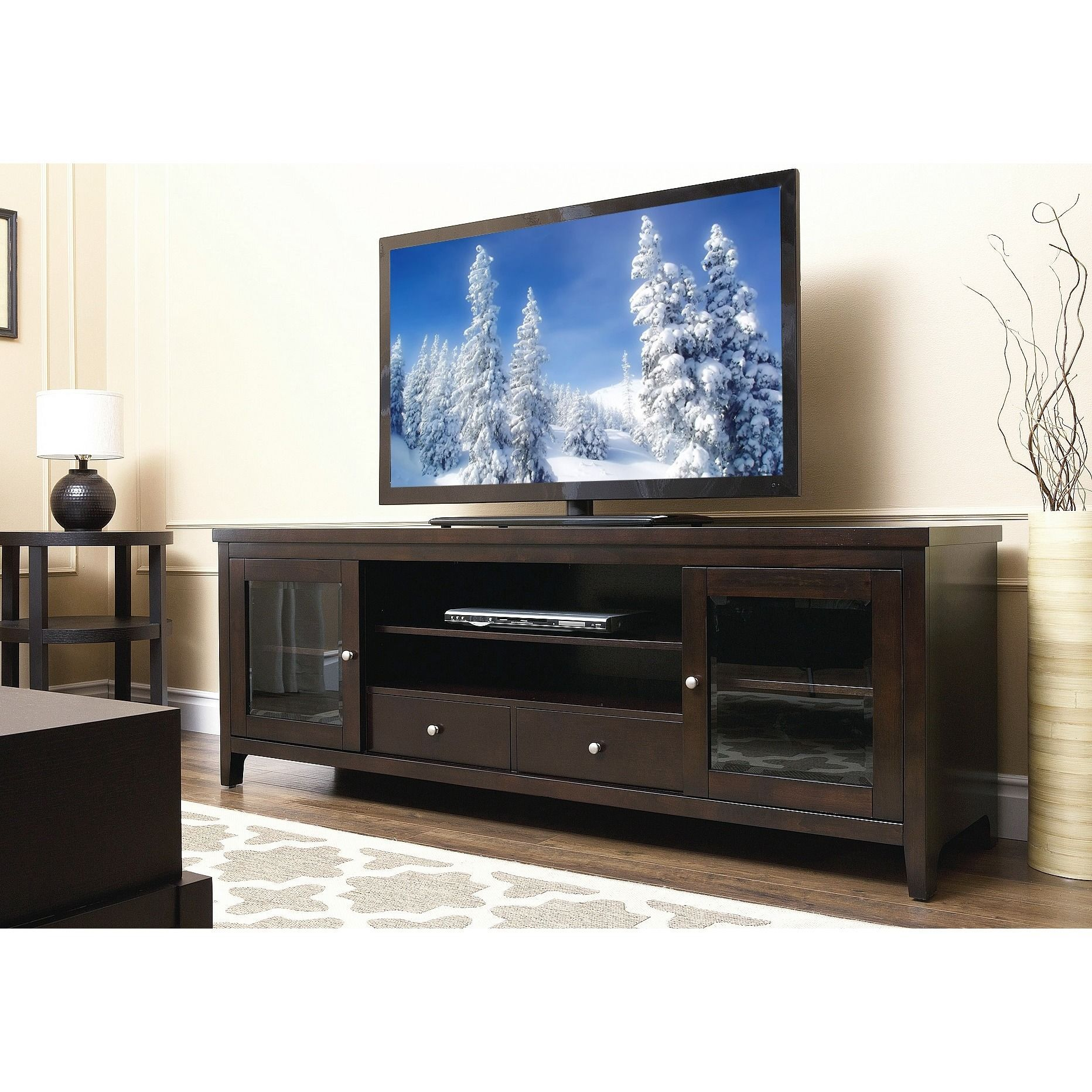 Add A Splash Of Classic Elegance To Your Living Room With This 72  # Meuble Tv Wenge But