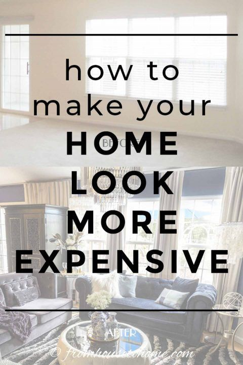 LOVE these home decorating tips for how to upgrade a builder grade home on a budget. These will help make my house look a lot more expensive! Click through to learn all the interior design tips for updating your home. #fromhousetohome #homedecorideas #homedecor #decoratingtips