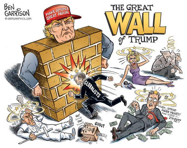 Make America Great Again Trump Cartoons Trump Wall Political