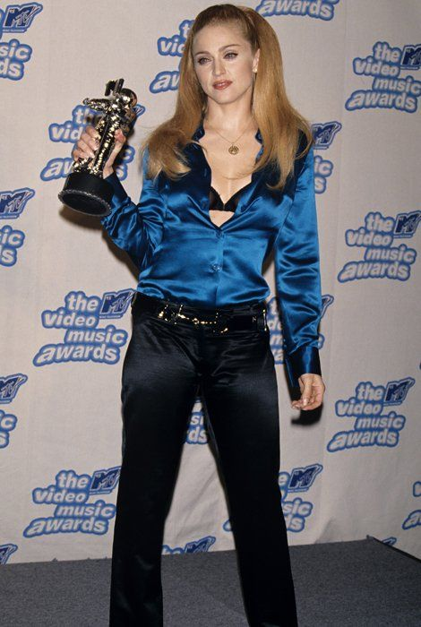 When the MTV VMA's were cool, including the fashion. Madonna in Gucci, 1995.