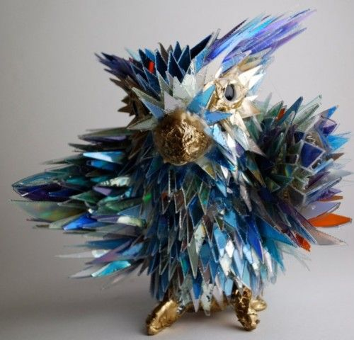 via Stunning Sculptures Made from Discarded CD Fragments) via Tumblr