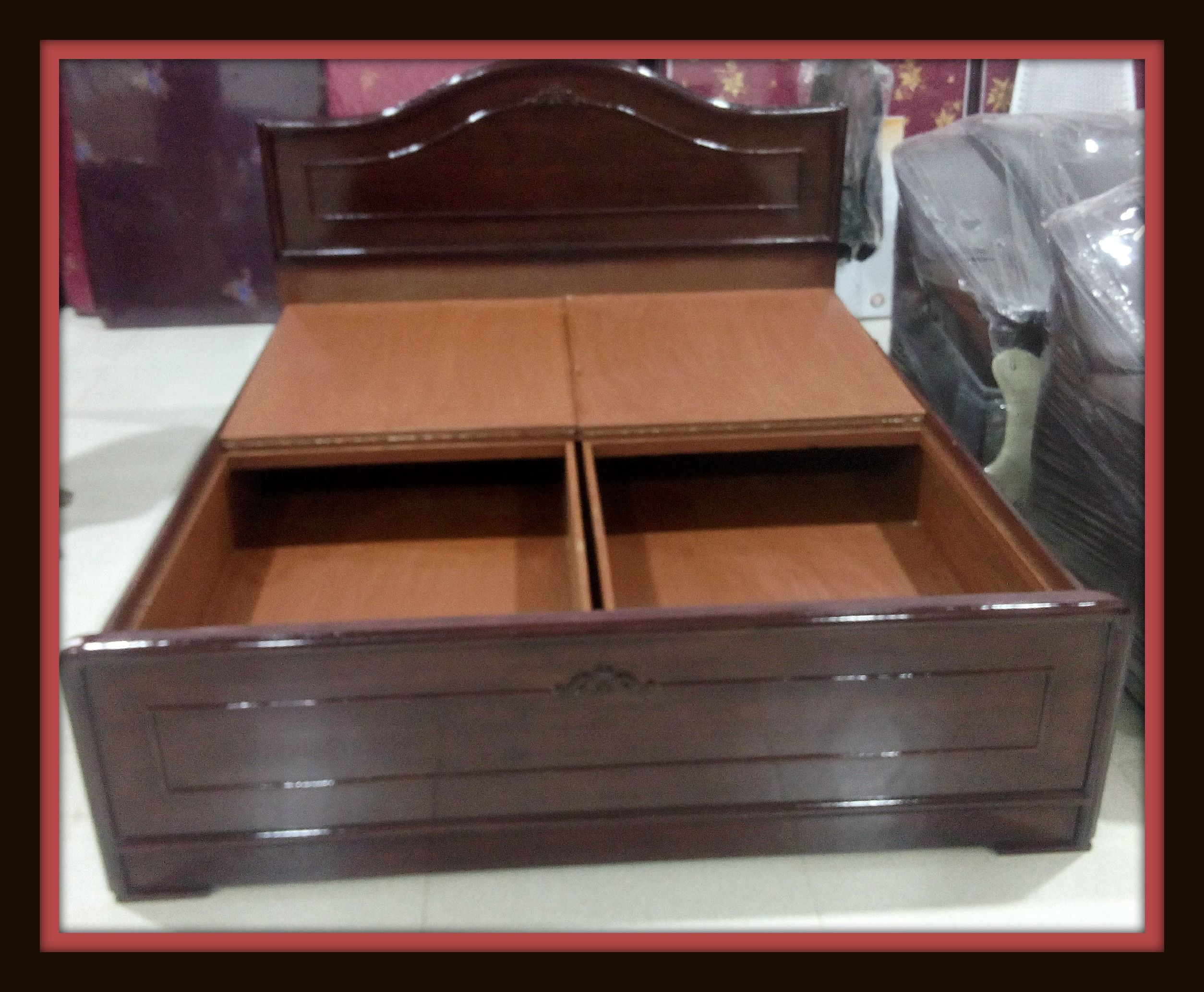 Teak Wood Mixed Box Cot Available In Gobichttipalayam City Steel Bed Design Wood Bed Design Bed Designs With Storage