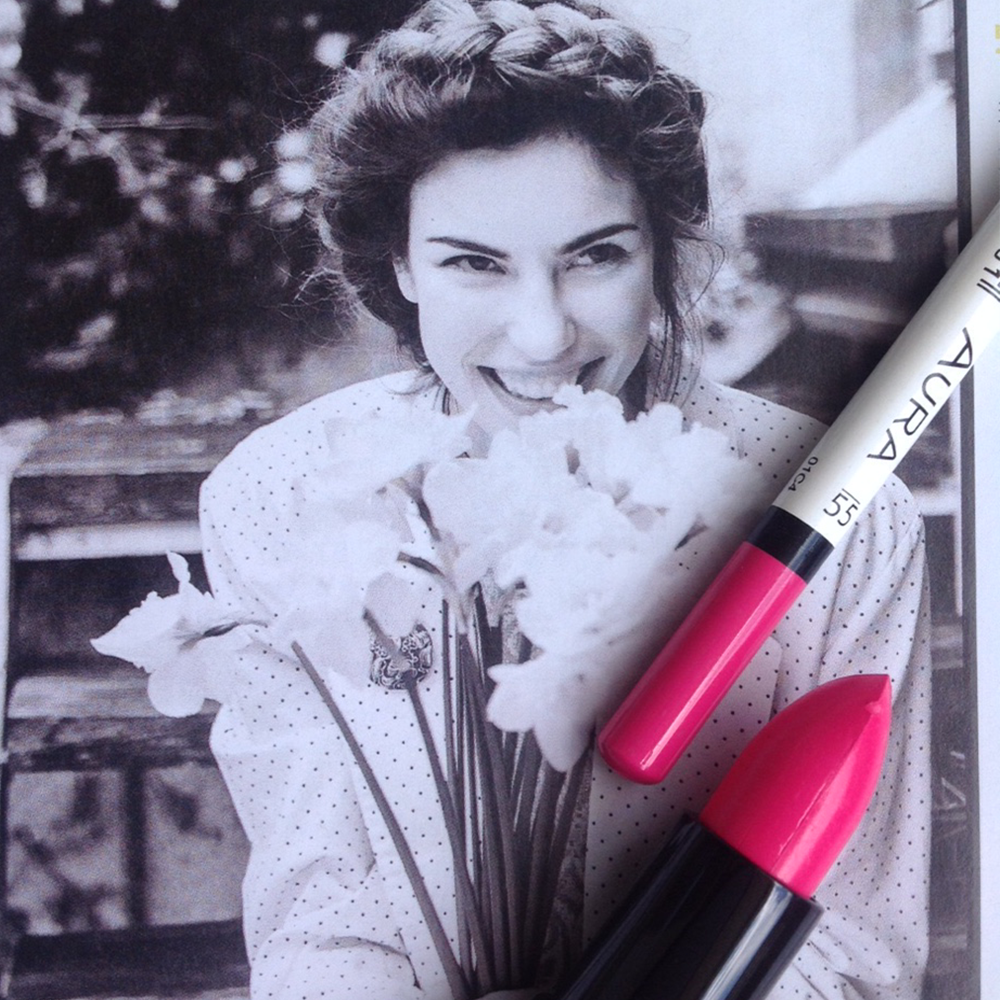 Za romantično leto #pink #lipstick #lipliner #color