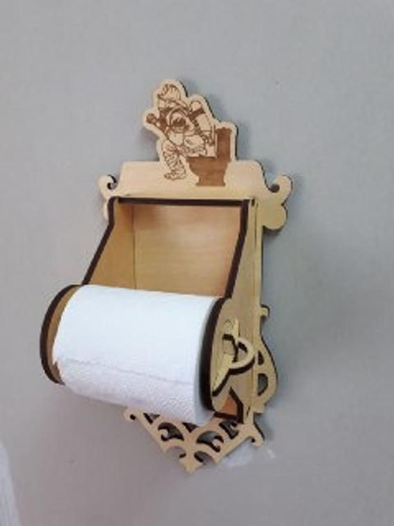 Toilet paper holder decor for home 3d model 3d puzzle CNC
