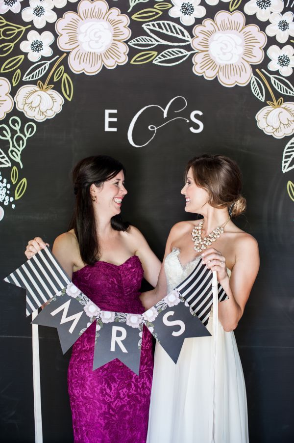 Minted S New Wedding Reception Decor Packages Botanical Wreath Theme Fl Chalkboard Photo Booth Props Monogram Initials Bride Bridesmaid