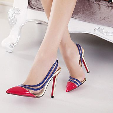 Zapatos rojos sexy Sodial(r) para mujer NMnFXphW