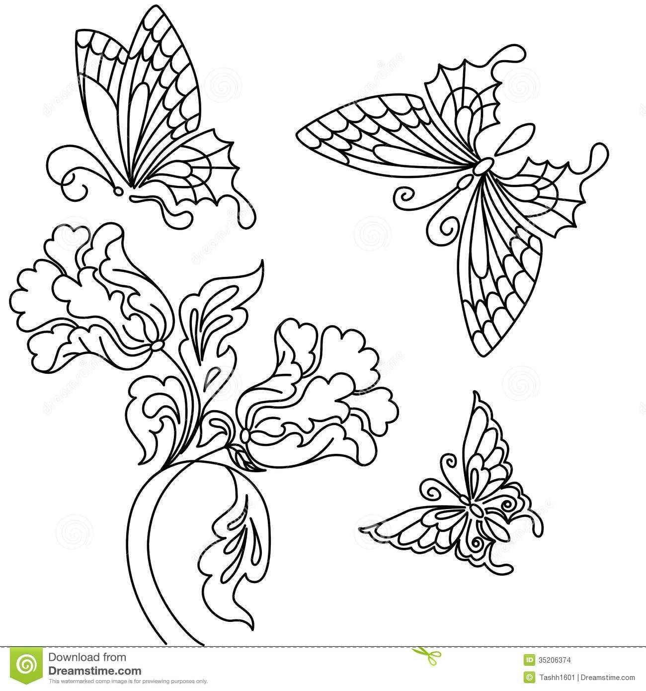 pencil drawings of flowers and vines Google Search