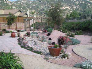 Low Water Landscape In Escondido, California