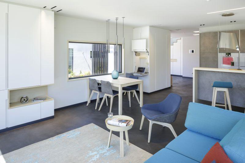 Musterhaus inneneinrichtung wohnzimmer  Unser Musterhaus-Wohnzimmer in Poing bei München. | Musterhäuser ...
