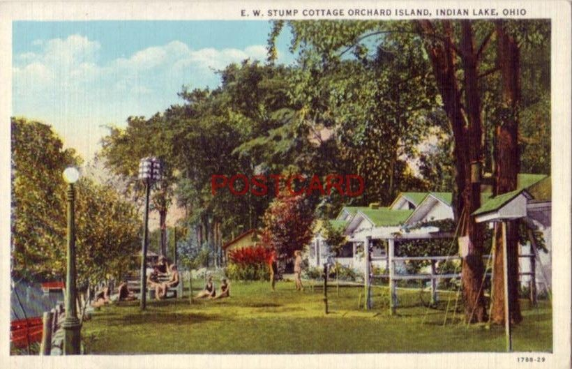 E W Stump Cottage Orchard Island Indian Lake Ohio