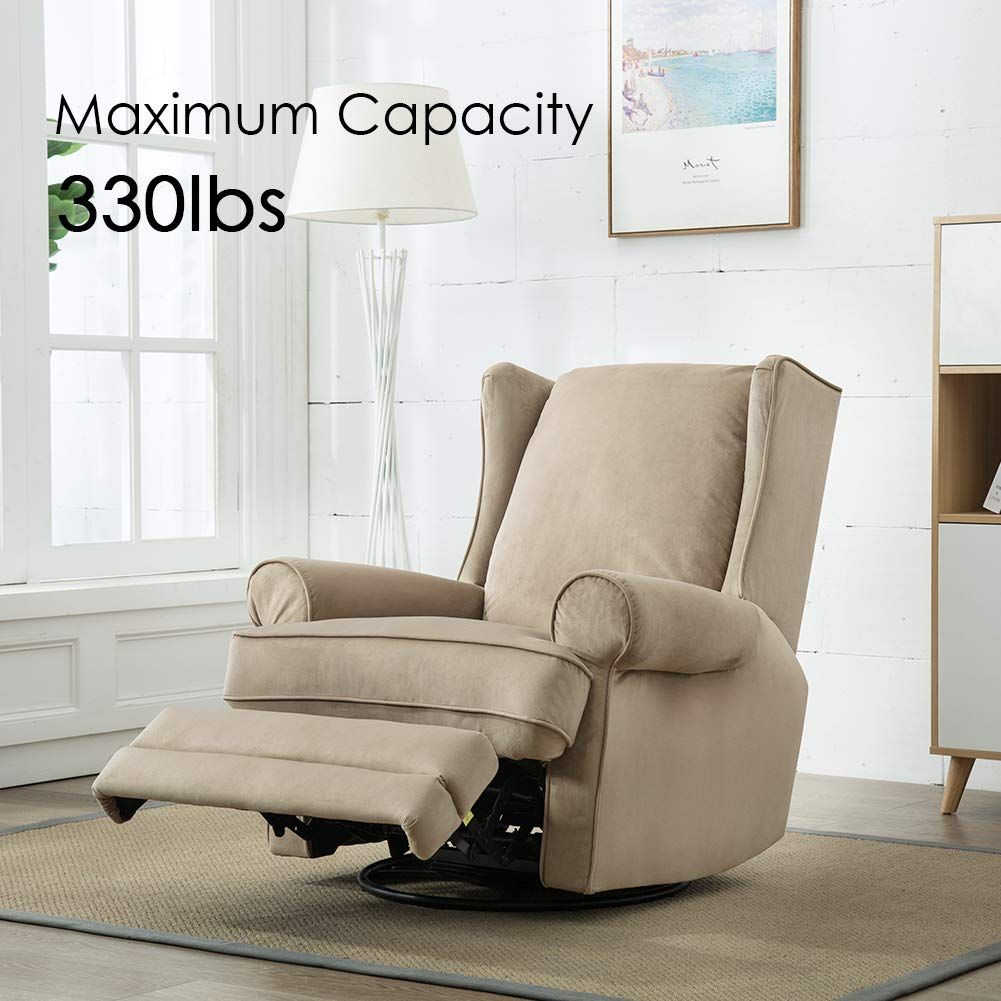Bonzy Swivel Glider Recliner Chair Nursery Elderly Sofa
