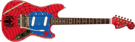 Spider-man Fender Mustang #guitar $1699