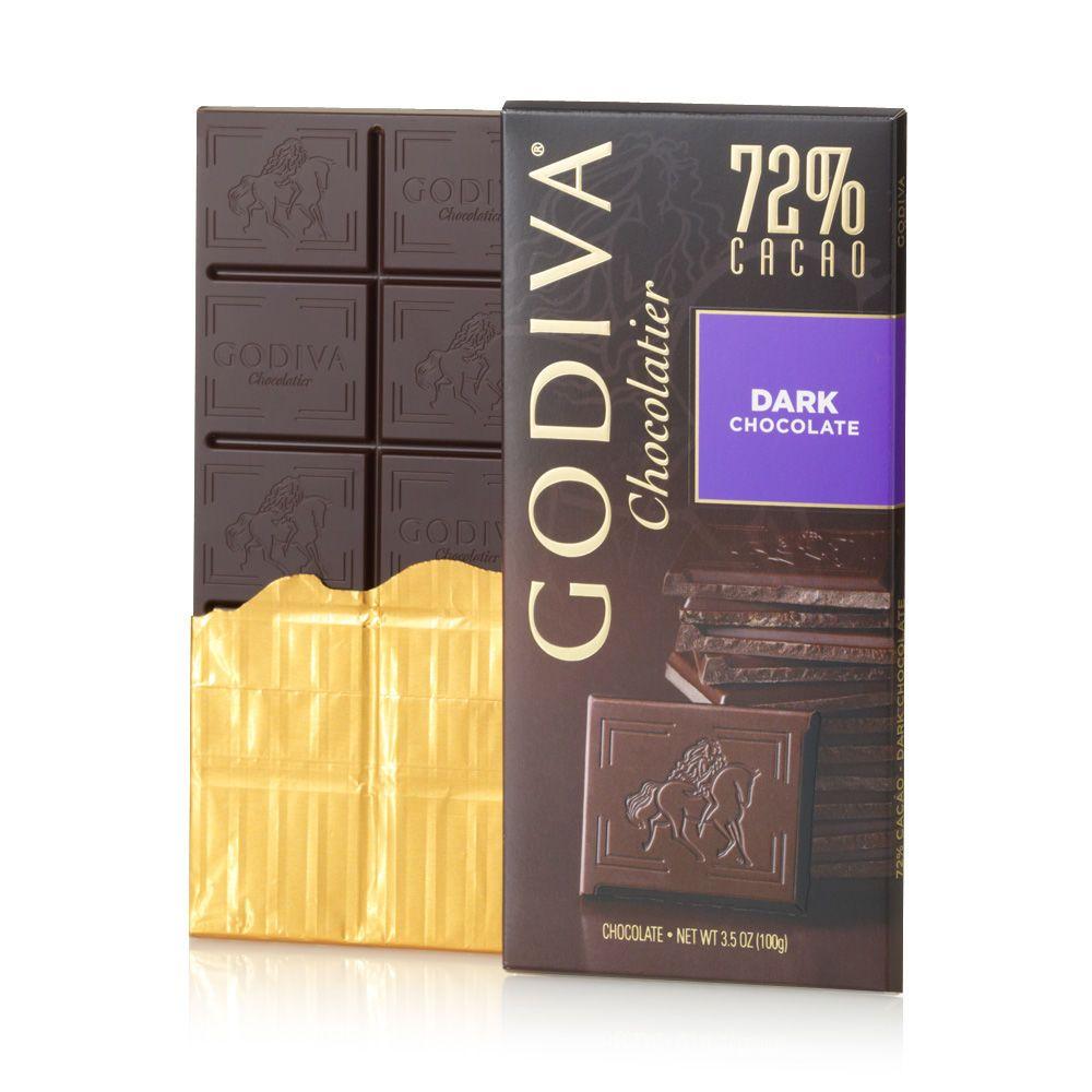 Godiva 72 dark chocolate Dark chocolate bar, Almond