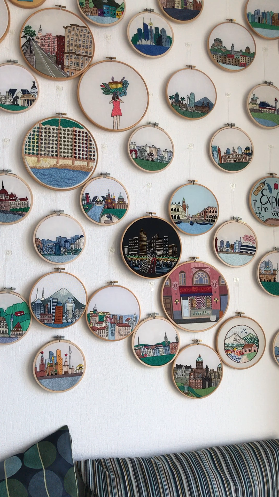 Architectural Hand Embroidery Hoop Wall Video Embroidery Hoop Wall Embroidery Hoop Wall Art Embroidery Patterns
