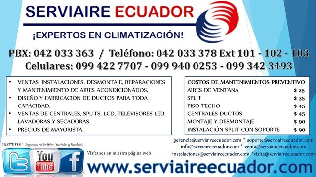 Serviaire Ecuador Con Imagenes Mantenimiento Preventivo