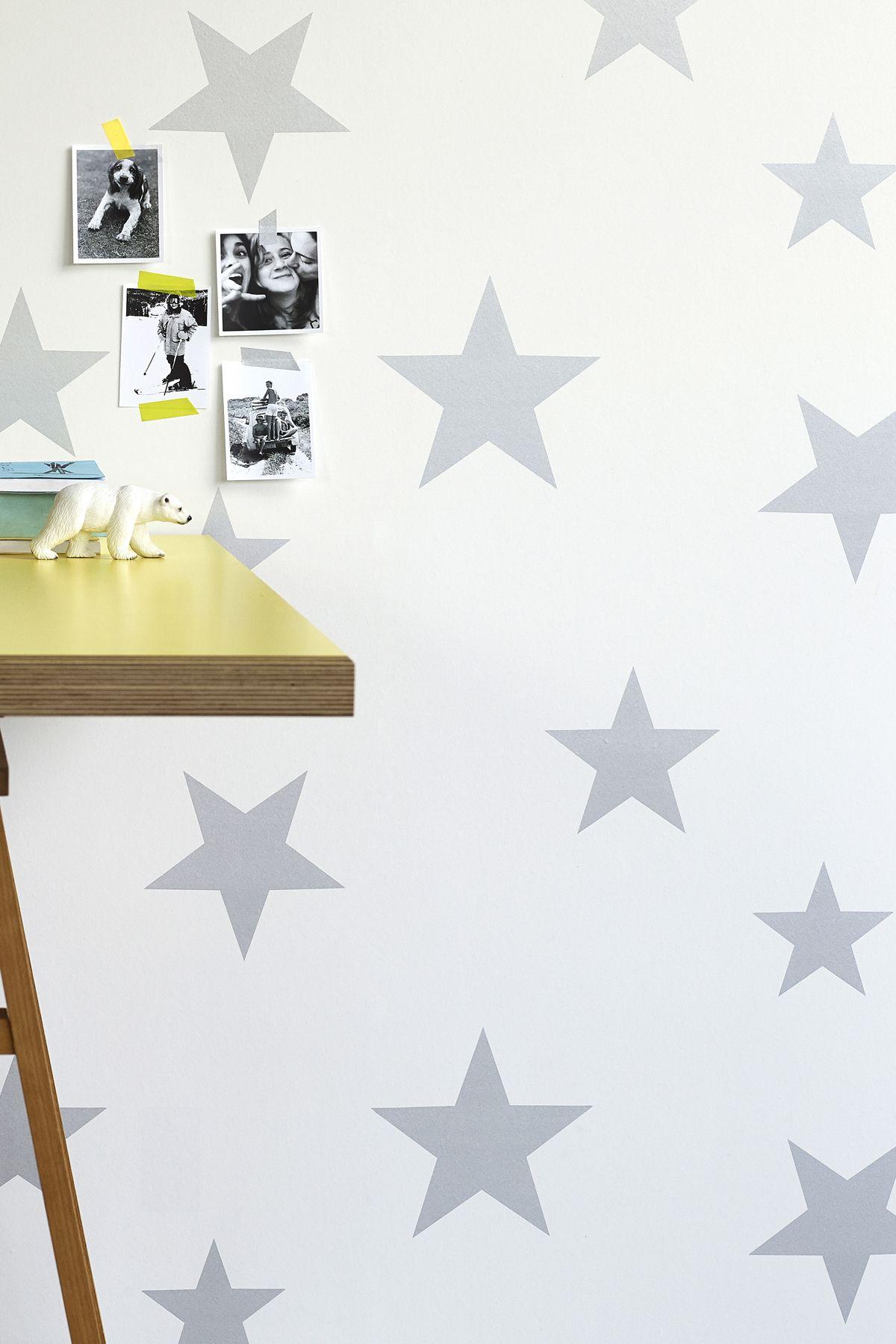 Stars Wallpaper Silver