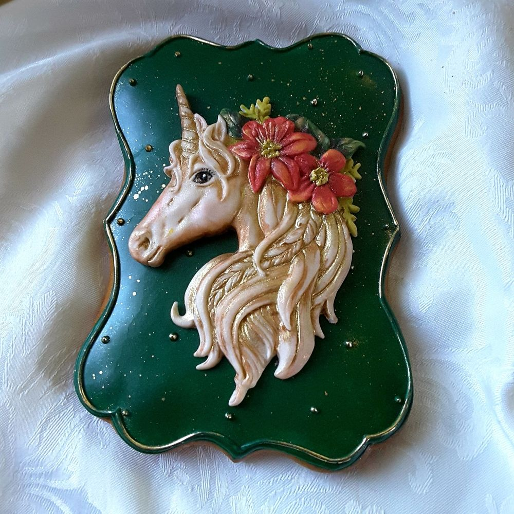 Mold By Katy Sue Designs Cookies In 2019 Christmas Unicorn