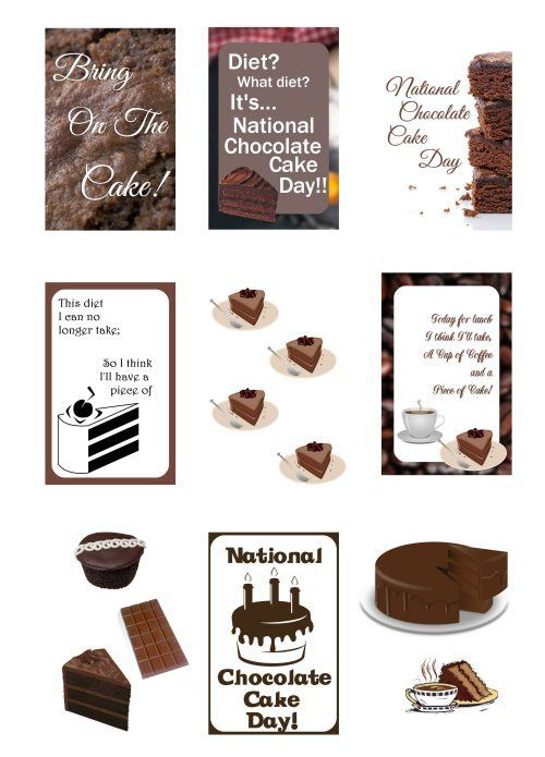 Happy Nat L Chocolate Cake Day National Chocolate Cake Day Cake Day Chocolate Cake