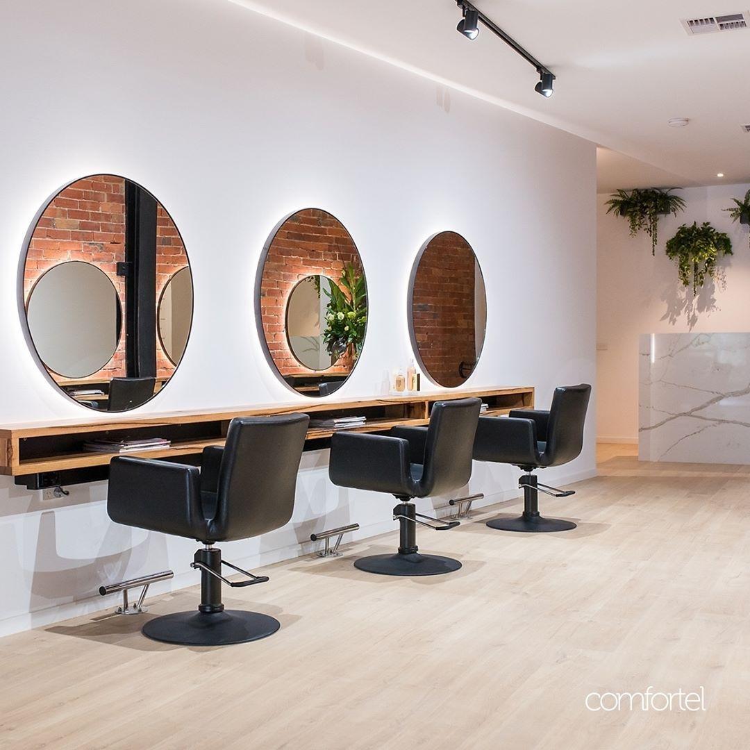 Black On Black Our Zara Salon Chair Crosses The Dark Side With The Matching Luna Matte Black Base Ell Salon Interior Design Salon Chairs Hair Salon Interior