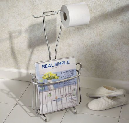 Toilet Roll Holder With Magazine Rack loo roll holder and magazine storage rack in stainless steel Sm 8