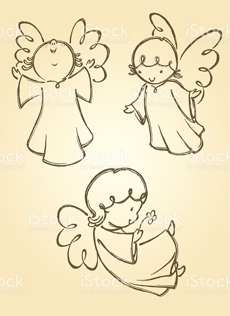 Variation Of Angel Poses Traced From My Hand Drawn Artwork Properly Engel Illustration Engel Zeichnen Weihnachten Zeichnen