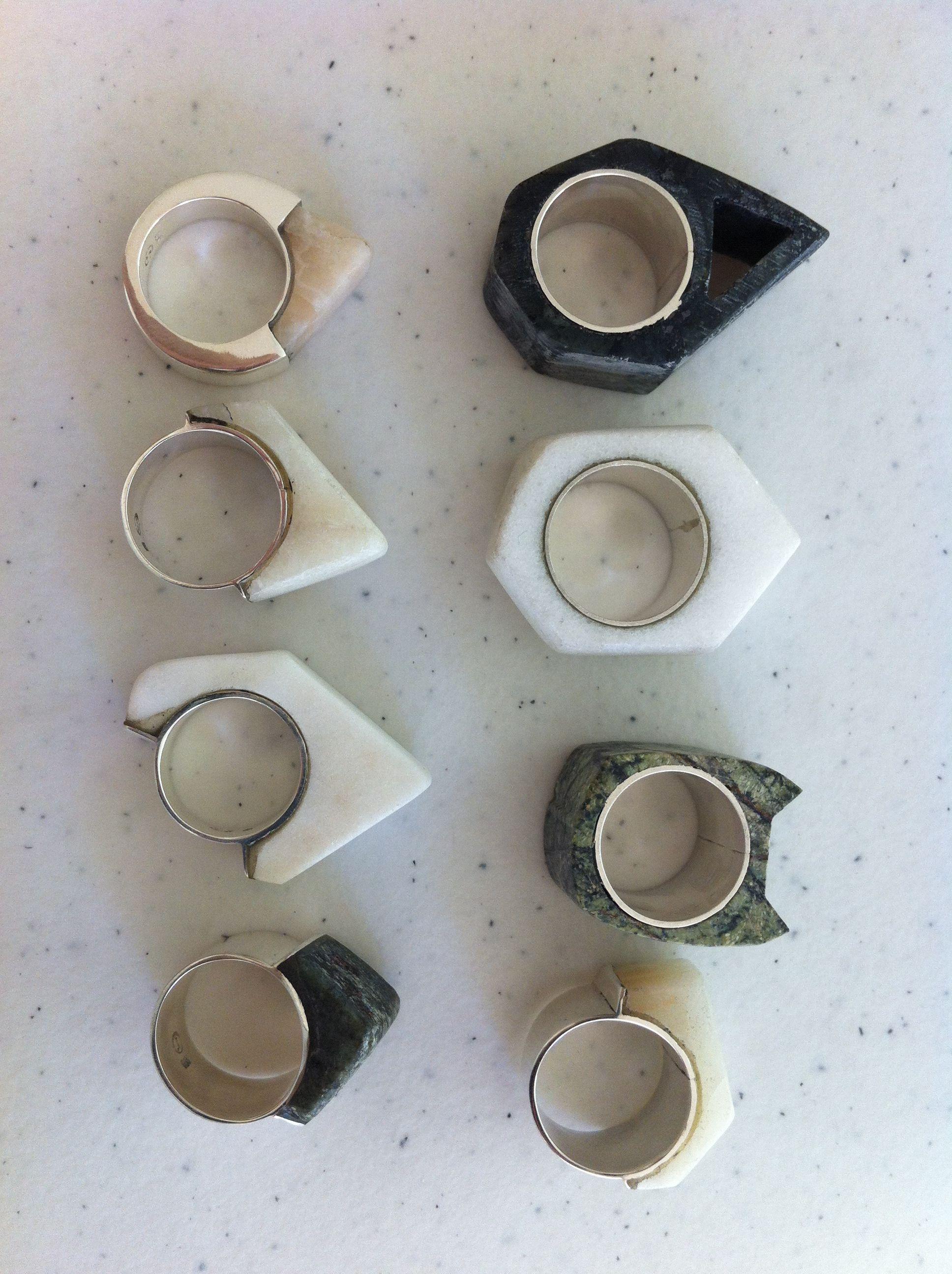 Casi lista la nueva colección -almost done with the new collection- #marblerings