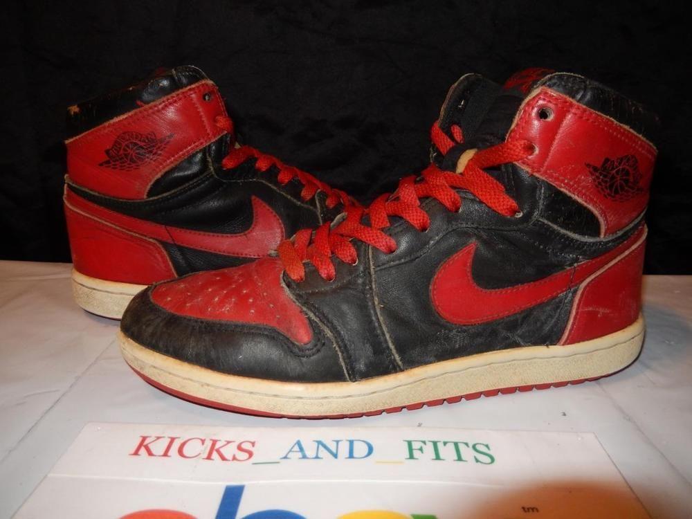 Red · VTG OG 1985 Nike Air Jordan 1 Black