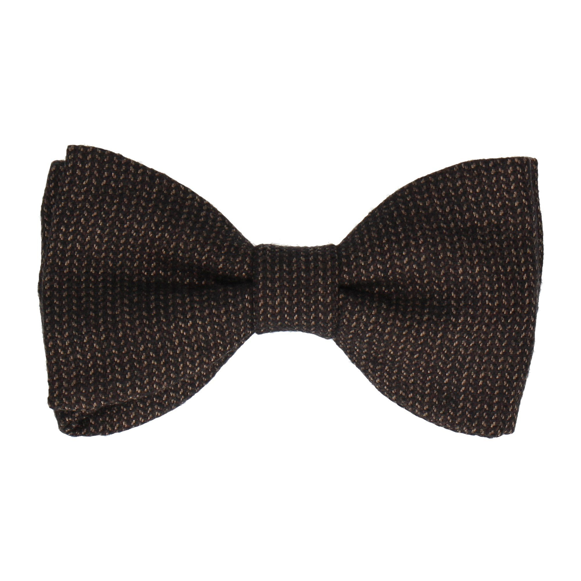 Chocolate Brown Gold Pattern Boys Bow Tie Gray