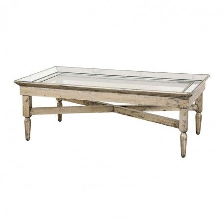 "GRANDE TABLE BASSE collection ""BOIS MIROIR"""