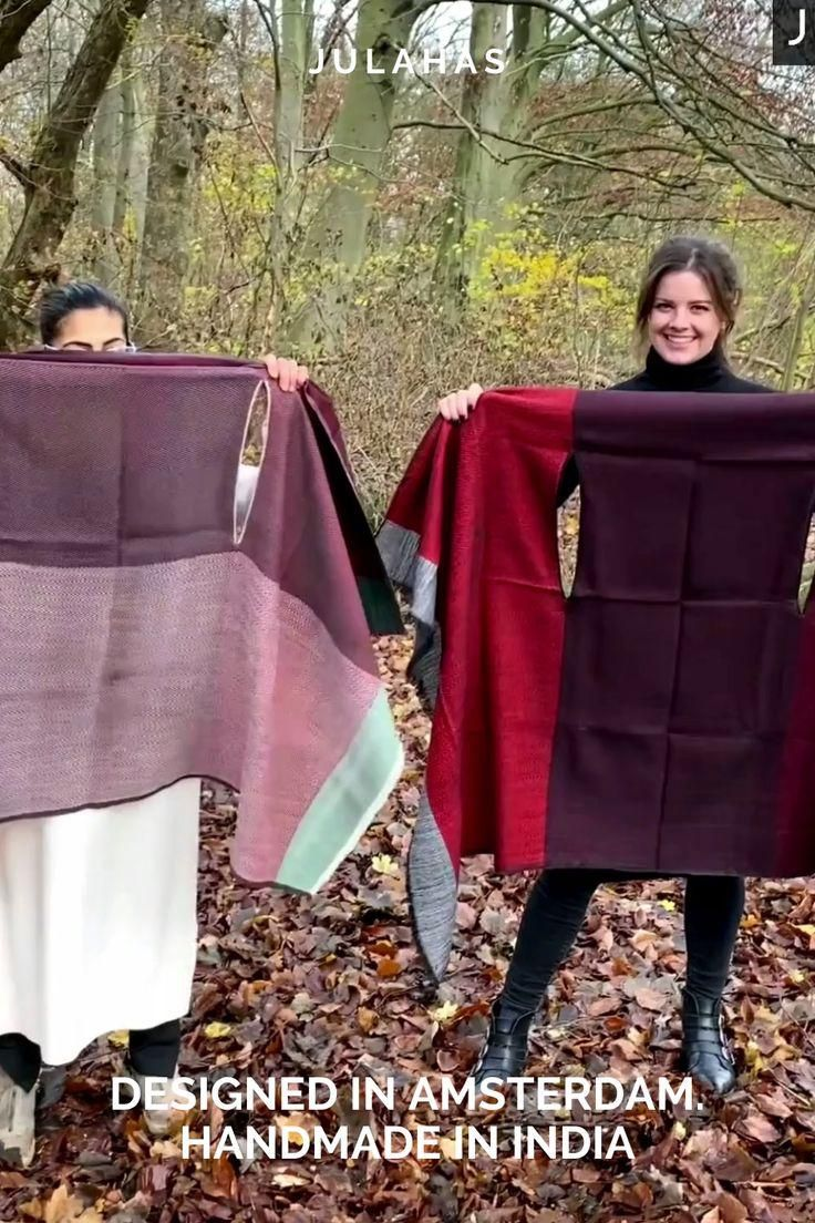 Our capes are cruelty-free, natural and multifunctional! They are designed in Amsterdam and made in India. Guaranteed to put a