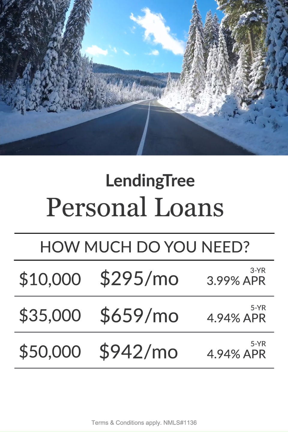 Pay off credit cards, consolidate debt and build credit faster! Personal Loan rates as low as 3.99% APR.