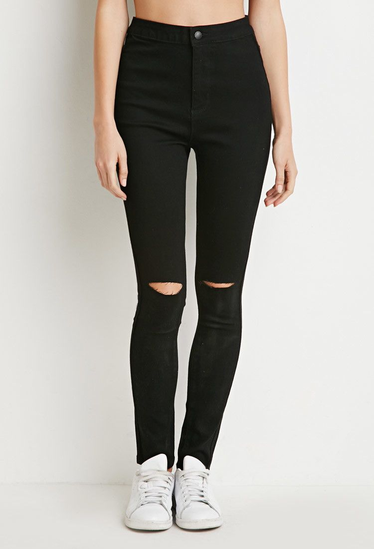 7bacc4eb23ea Ripped Skinny Jeans | Forever 21 - 2000156263 | Forever 21 wish list ...