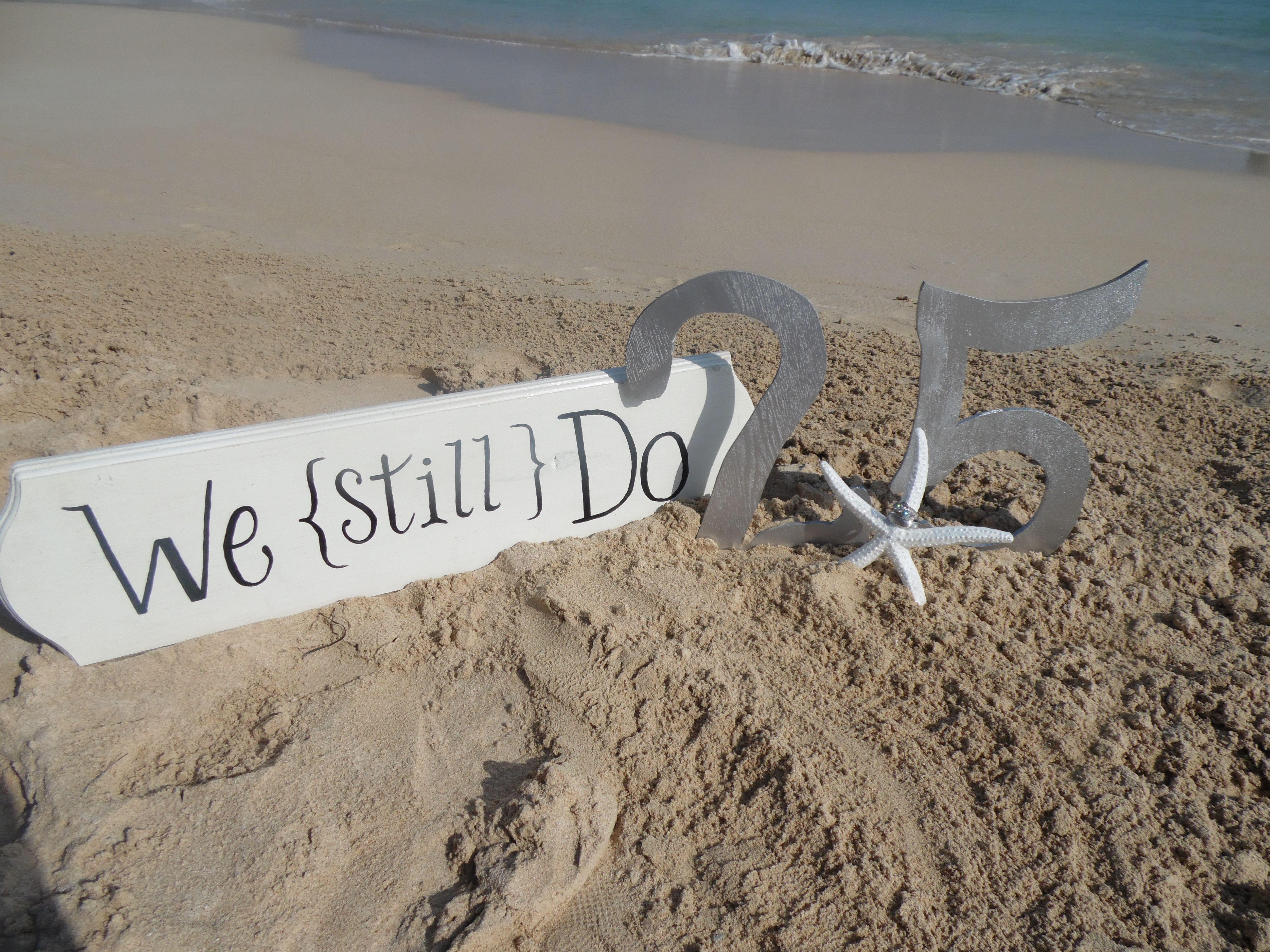 Vow Renewal Beach Wedding 25th Anniversary Destination