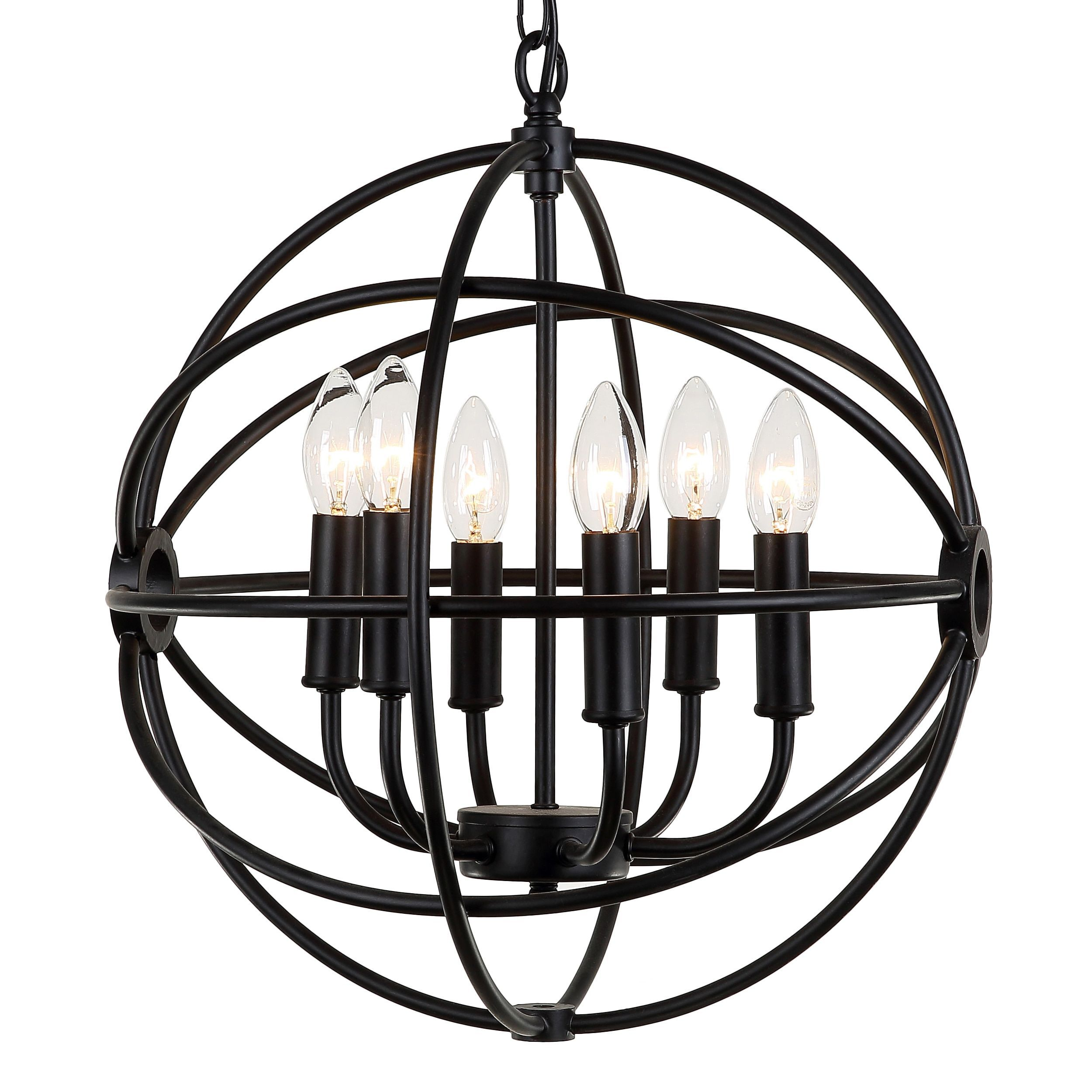 Journee Home \'Mahin\' 20 in Bulb Included Hard Wired Iron Pendant ...
